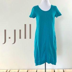 J. Jill Lightweight Jersey Cocoon Cotton Teal